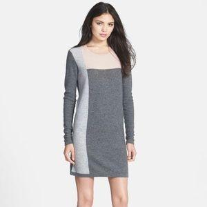 T9T8F Vince Cashmere Colorblock Sweater Dress